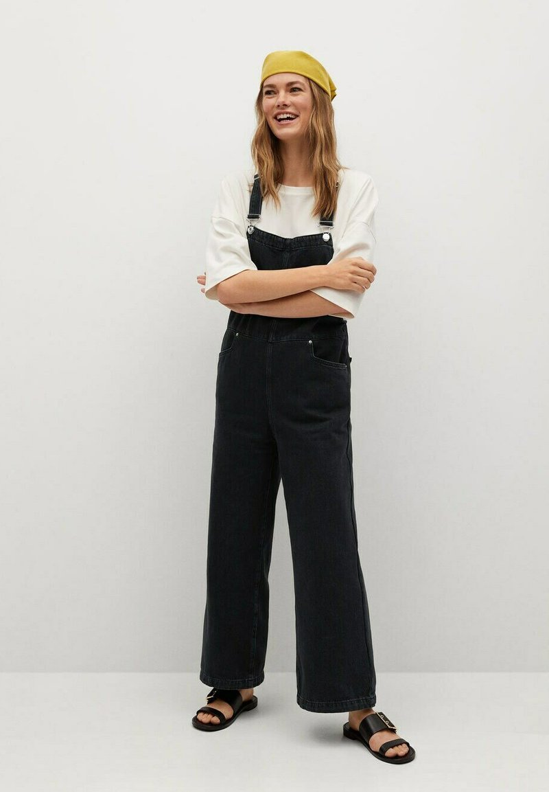 Mango - Dungarees - black denim