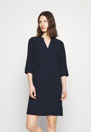 NOTCH NECK SHIFT - Day dress - dark blue