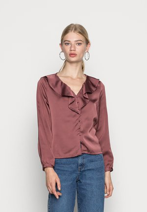 ONLSISSE  LIFE FRILL BLOUSE - Camicetta - rose brown