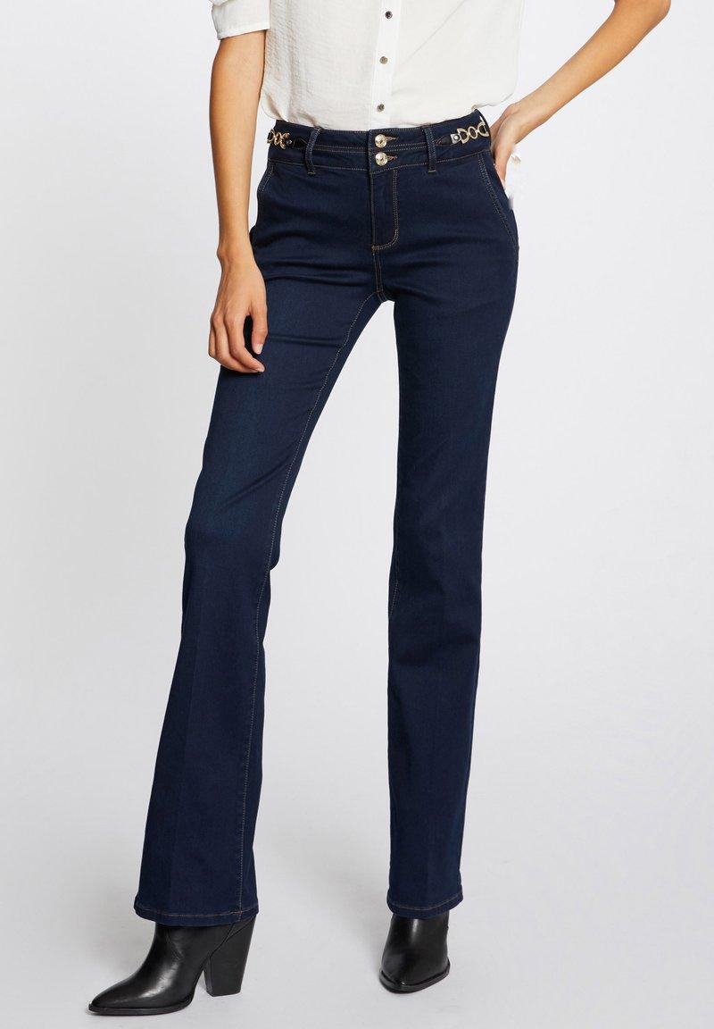 Morgan - ORNAMENTS - Bootcut jeans - blue denim