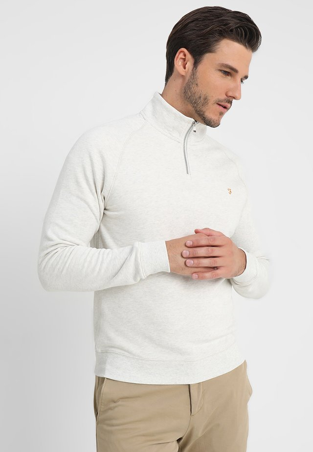 JIM ZIP - Sweatshirt - chalk marl