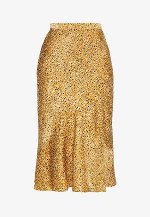 LEO FLOUNCE - A-line skirt - mustard