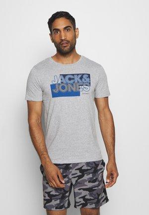 JCOBOOSTER TEE CREW NECK - Print T-shirt - light grey melange