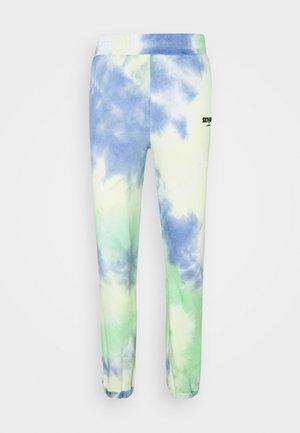TIE DYE - Pantalones deportivos - blue