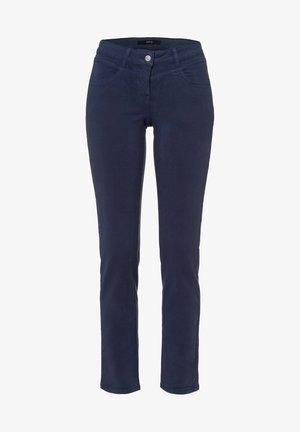 SLIM FIT - Trousers - velvet blue