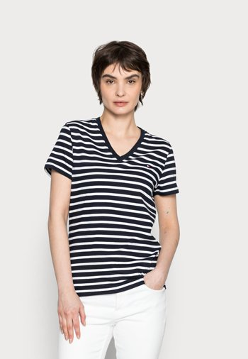 NEW V-NECK TEE - Print T-shirt - blue