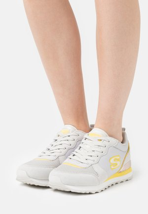 Sneakers basse - offwhite/yellow