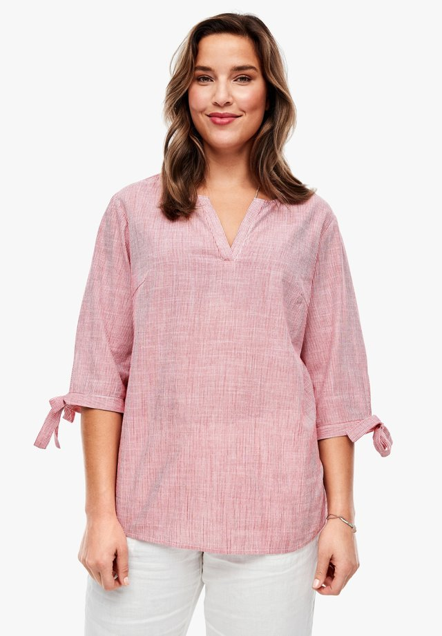 BLOUSE - Tunic - chinese red stripes