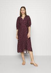 Closet - CLOSET GATHERED  - Day dress - brown - 0