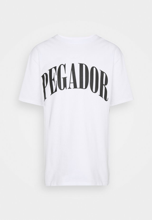 CALI TEE UNISEX - Print T-shirt - white/black