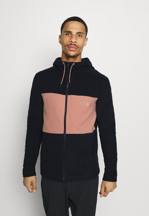 MEN'S BLOCKED HOODIE - Fleecejakker - dark blue/pink