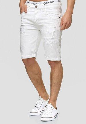 CUBA CADEN - Jeans Shorts - off-white
