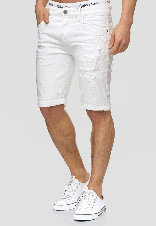 CUBA CADEN - Short en jean - off-white