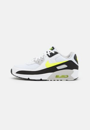 AIR MAX 90 UNISEX - Sneakers laag - white/hot lime/black/neutral grey