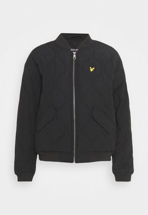 QUILTED - Bomber Jacket - jet black