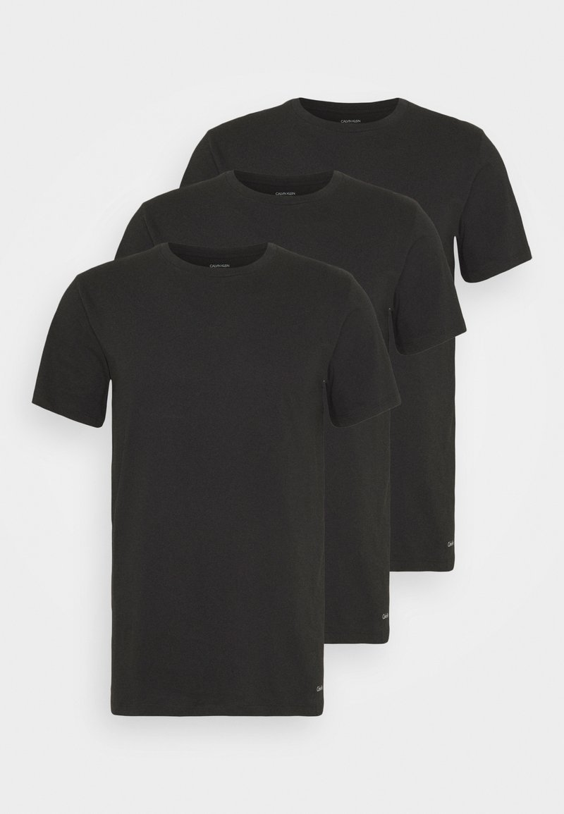 Calvin Klein Underwear - CLASSICS CREW NECK 3 PACK - Undershirt - black