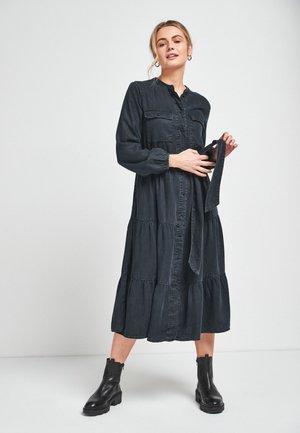 Denim dress - black