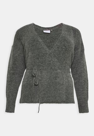 KCWELLY WRAP - Cardigan - dark grey mélange