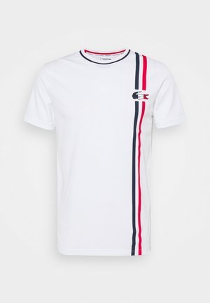 OLYMP - Camiseta estampada - white/navy blue/red