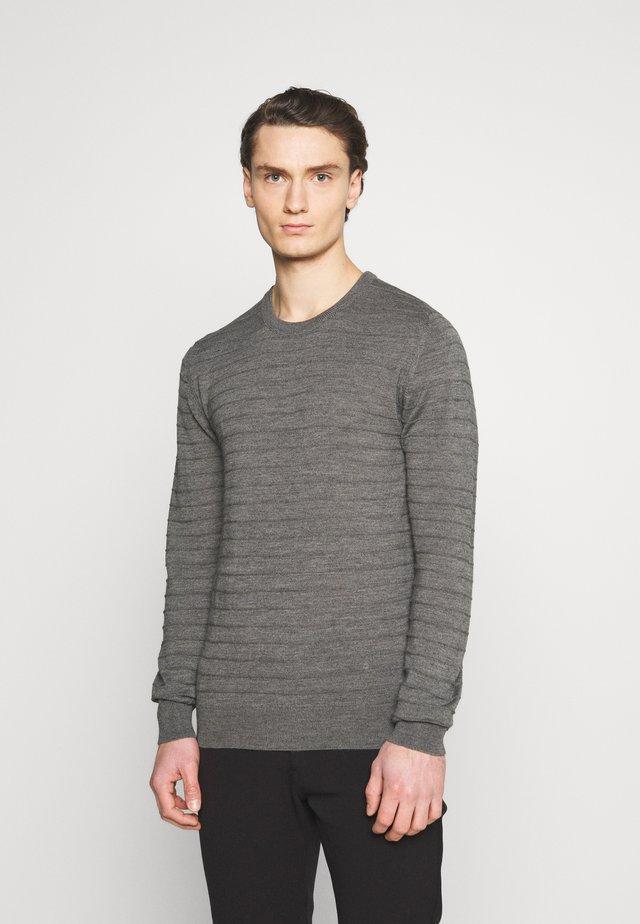 LEON - Svetr - medium grey melange