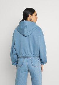 Weekday - MIRIAM ZIP HOODIE - Zip-up sweatshirt - blue - 2