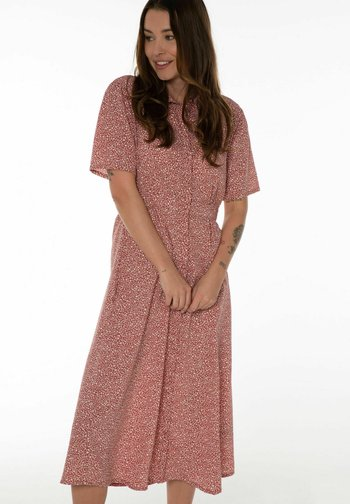 Shirt dress - terracota