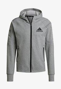 adidas Performance - M MT FZ HD - Zip-up sweatshirt - grey - 7