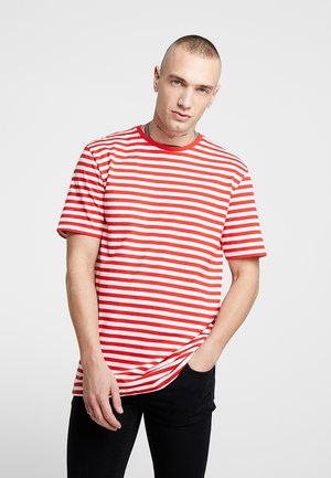 ONSJAMIE LIFE SS STRIPE REG TEE NOO - T-shirt z nadrukiem - high risk red