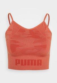 EVOKNIT SEAMLESS CROP - Sports shirt - autumn glaze
