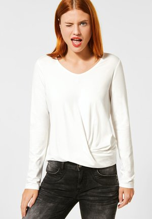 MIT KNOTENDETAIL - Long sleeved top - weiß