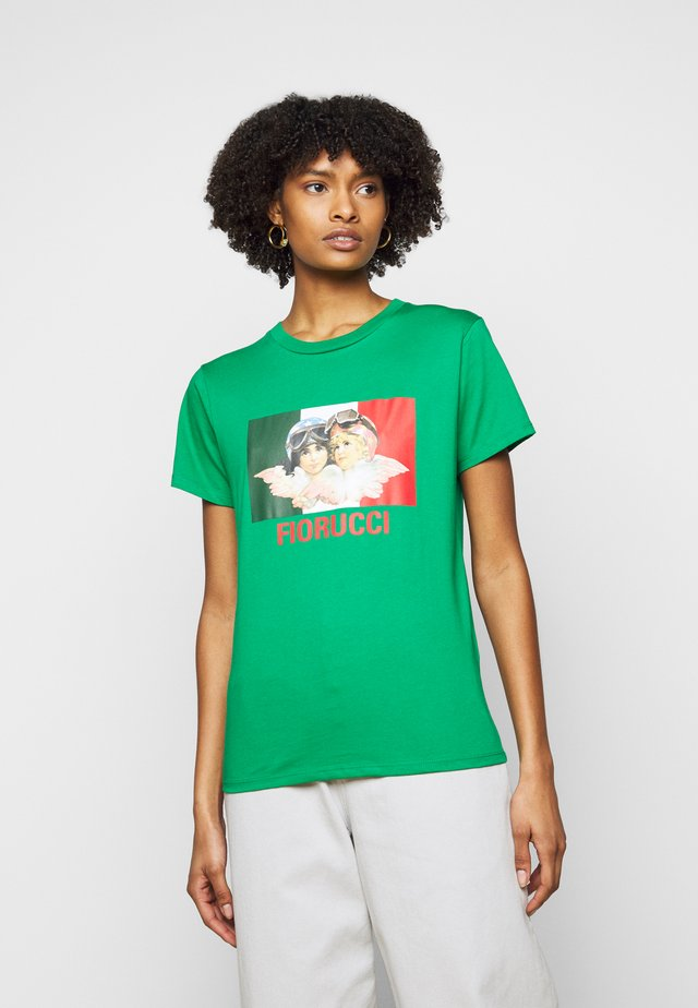 RACING ANGELS TEE - T-shirt print - green