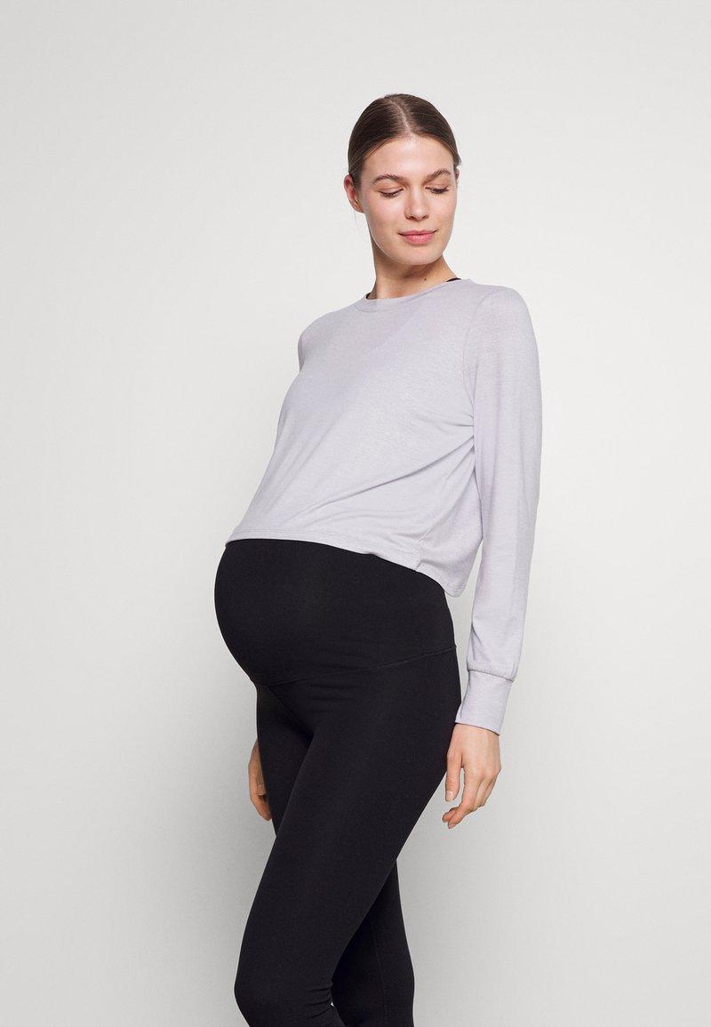 Cotton On Body - CROSS BACK LONG SLEEVE - Top sdlouhým rukávem - grey marle