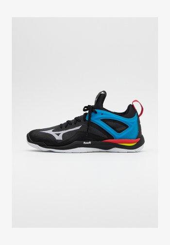 WAVE MIRAGE 3 - Handball shoes - black/white/diva blue