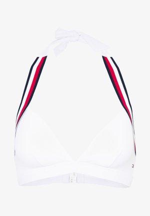 CORE SIGNATURE TRIANGLE FIXED - Bikini top - classic white