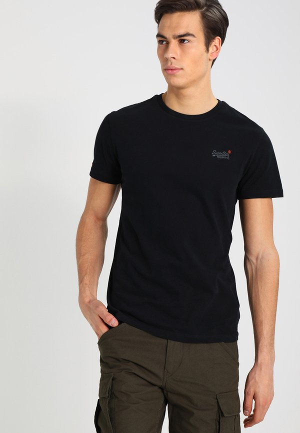 Superdry ORANGE LABEL - T-shirt basic - black/czarny Odzież Męska LFOV
