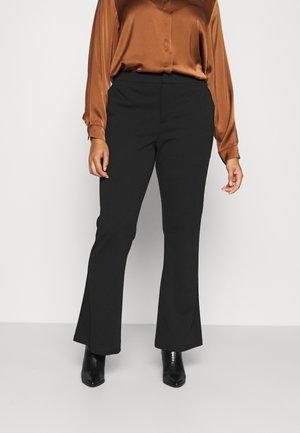 CARROCK MID FLARED LONG PANT - Trousers - black