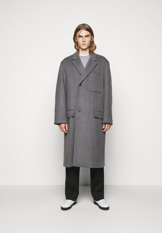 EXTENDED LAPEL COAT - Cappotto classico - charcoal gray