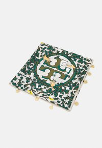 Tory Burch - DAISY VINE SQUARE WITH CHARMS - Foulard - green - 0