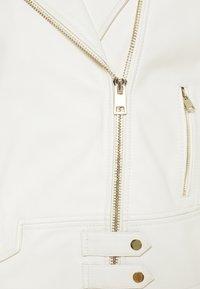 Pinko - SENSIBILE CHIODO - Leather jacket - white - 2