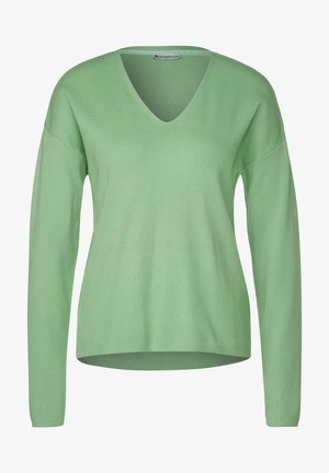 Softer in Unifarbe - Jumper - grün