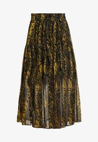 WARPED ANIMAL - Plisovaná sukně - ochre