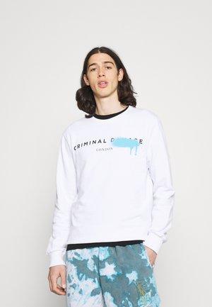 LOGO SPRAY - Sweatshirt - white