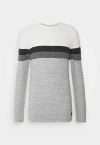 HANSI ROUND NECK - Svetr - off-white/grey