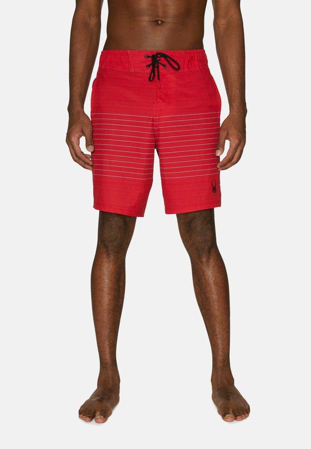 STRIPED - Zwemshorts - red