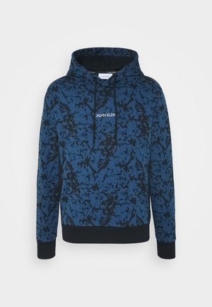 ALLOVER ABSTRACT HOODIE - Mikina skapucí - blue