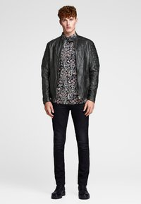 Jack & Jones - Leather jacket - black - 1