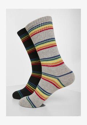 RAINBOW   2 PACK - Socks - black/grey