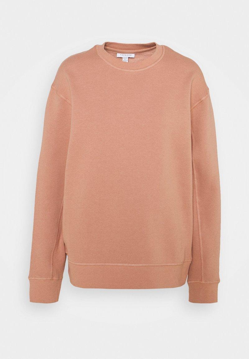 Topshop Petite - FLATLOCK - Sweatshirt - rose