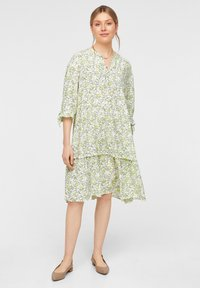 comma casual identity - Day dress - offwhite leaf - 1