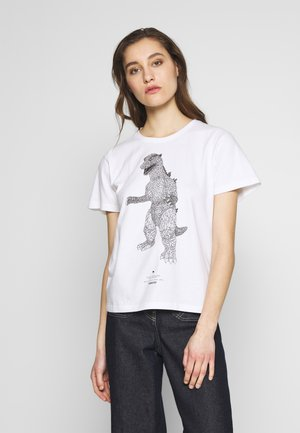 ODO ISLAND TEE - T-shirt z nadrukiem - white